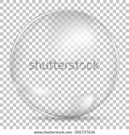 Transparent bubble bowl big - stock vector