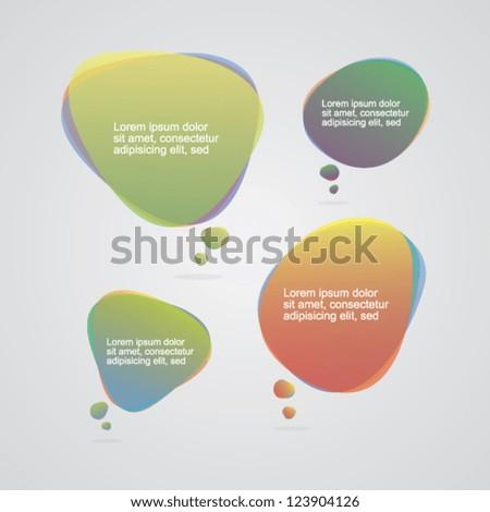 Transparent Colorful Speech Bubbles - stock vector