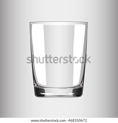 Transparent cup. Vector illustration.