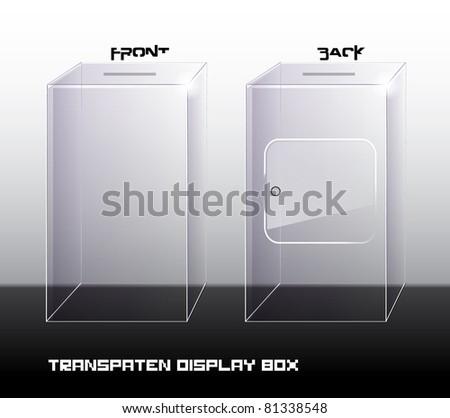 transparent display box - stock vector