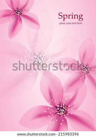 Transparent flowers  background - Abstract floral