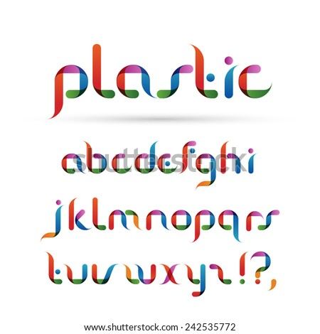 Transparent font, alphabet, eps10 vector - stock vector