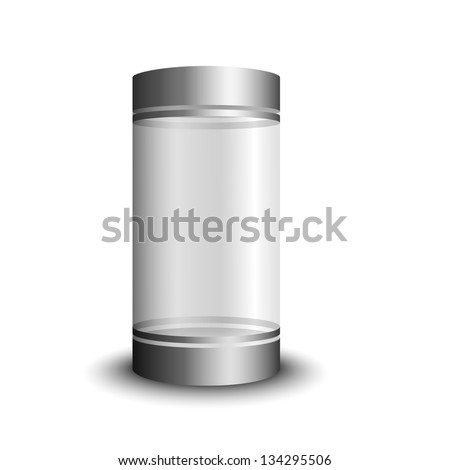 Transparent Glass Cosmetic, Food, Alcohol Tube, Package, Container - stock vector