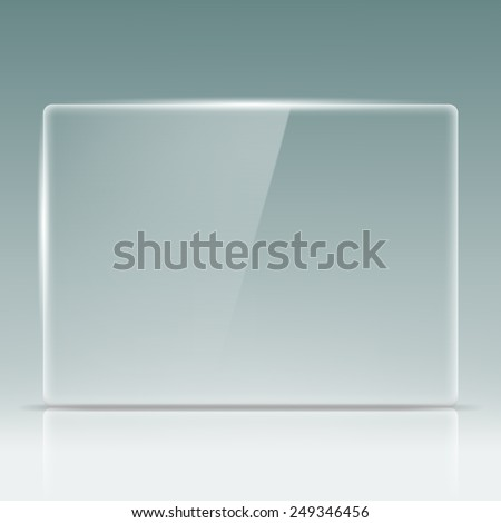 Transparent glass screen - stock vector