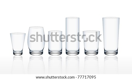 Transparent glass set eps10 - stock vector
