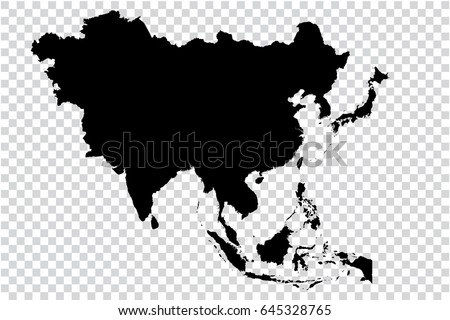 Transparent high detailed black map asia vectores en stock 645328765 transparent high detailed black map of asia continent vector illustration eps 10 gumiabroncs Images