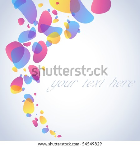 Transparent irregular bubble swirl. Includes transparencies (eps10); jpg version also available - stock vector