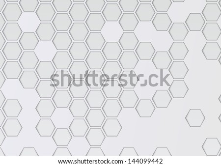 Transparent layered background with hexagons. Vector illustration