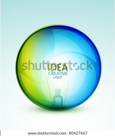 Transparent light sphere. Energy concept. Eps10 vector abstract background - stock vector