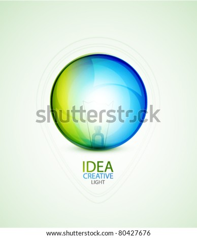 Transparent light sphere. Energy concept. Eps10 vector abstract background