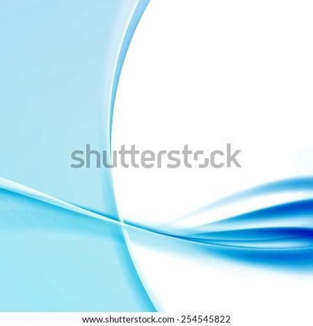 transparent modernistic blue swoosh wave template stock vector