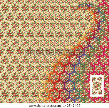 transparent painted seamless abstract pattern - stock vector