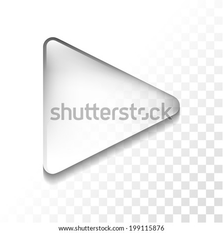 Transparent play icon - stock vector