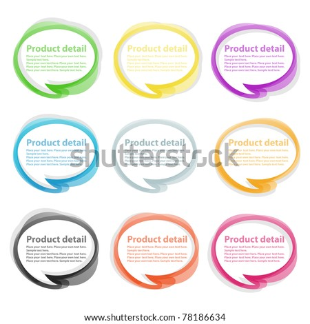 Transparent speech bubbles for your website - stock vector