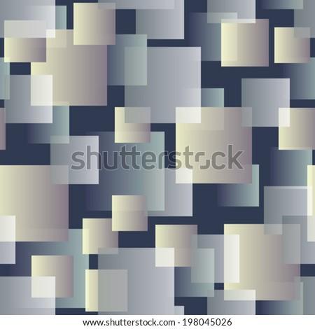 transparent tiles on grey seamless pattern - stock vector