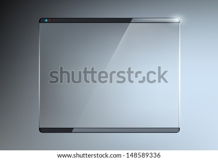 transparent touch screen - stock vector