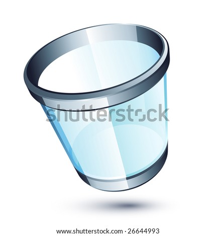 Transparent trash can - stock vector