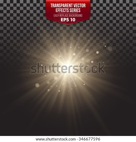 Transparent Vector Effects Series. Easy replacement of the background EPS10 - stock vector