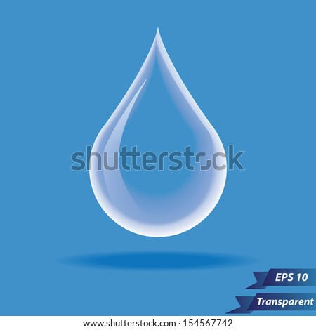 Transparent water drop icon