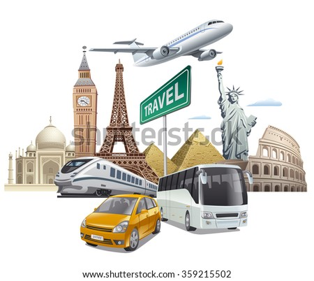 transport and travel - stock vector