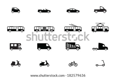 Transport black icons