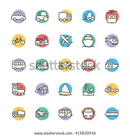 Transport Cool Vector Icons 1 - stock vector