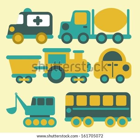 transport design over cream background vector illustration - stock vector