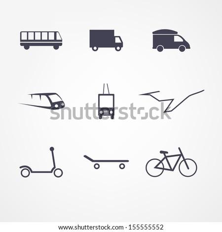 transport icon - stock vector