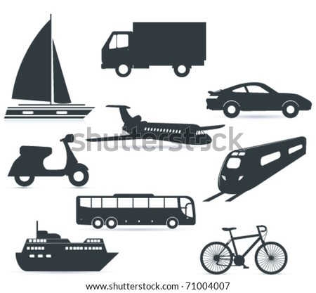 Transport icon - stock vector