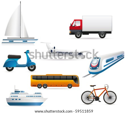 Transport icon. Vector - stock vector