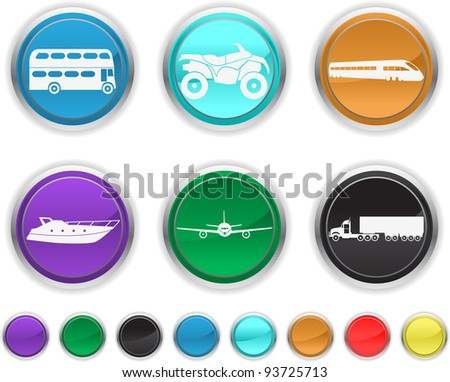 transport icons,each color icons is set on a different layer - stock vector