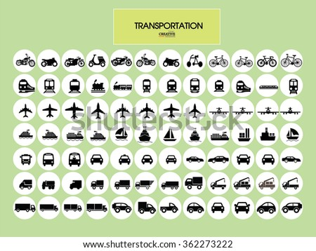 Transport icons.transportation .logistics.logistic icon.vector illustration. - stock vector