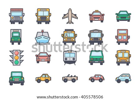 Transport Illustration Icons 4 - stock vector