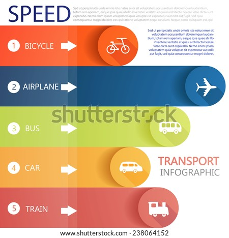 Transport infographic. Vector illustration.