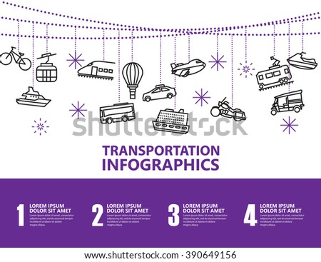 transport infographics  - stock vector