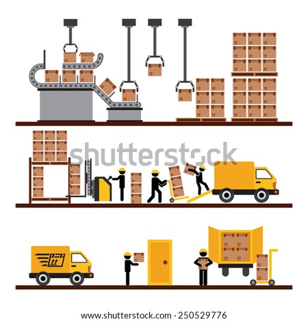 transport of goods design, vector illustration eps10 graphic  - stock vector