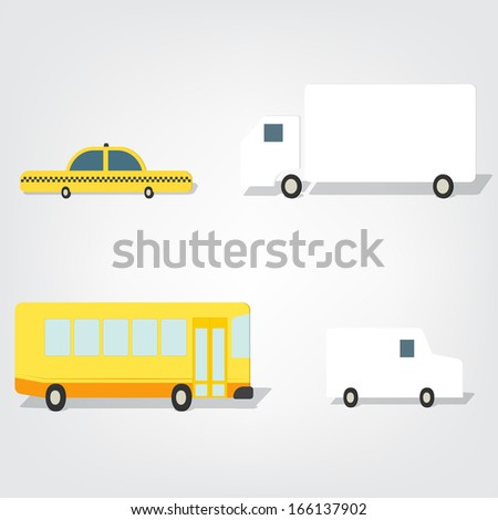 Transport set images - stock vector