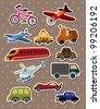 Transport stickers - stock vector