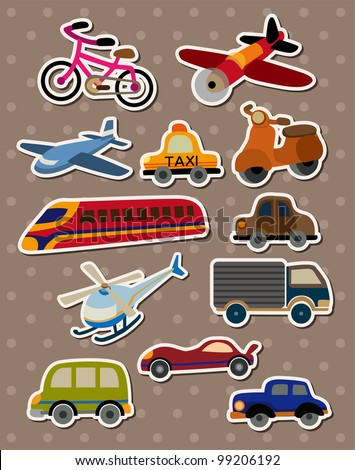 Transport stickers - stock vector