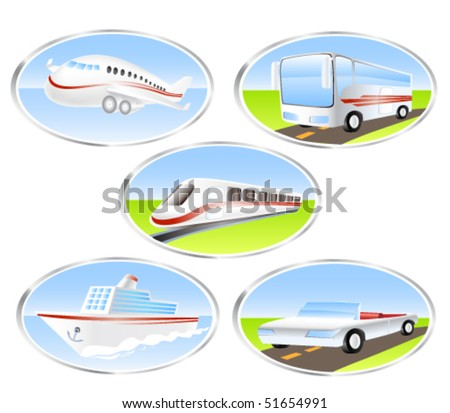 Transport & Travel icons - stock vector