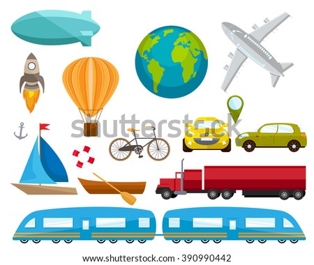 Transport vector set. icons - stock vector