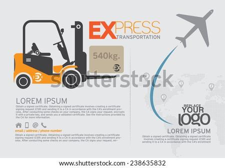 Transportation Brochure and leaflet  design template. - stock vector