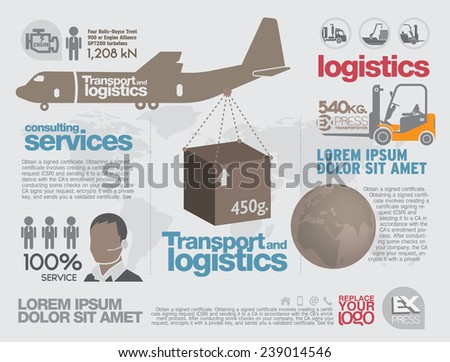 Transportation Brochure and leaflet design template. - stock vector