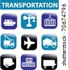 transportation buttons. vector - stock vector