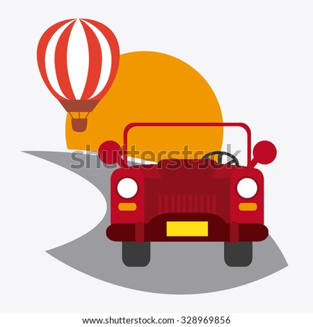 Transportation concept with  vehicle icons design, vector illustration 10 eps graphic. - stock vector