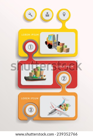 Transportation design infographic elements. Vector Illustration. - stock vector