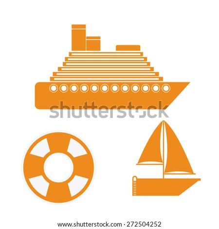 Transportation design over white background, vector illustration - stock vector