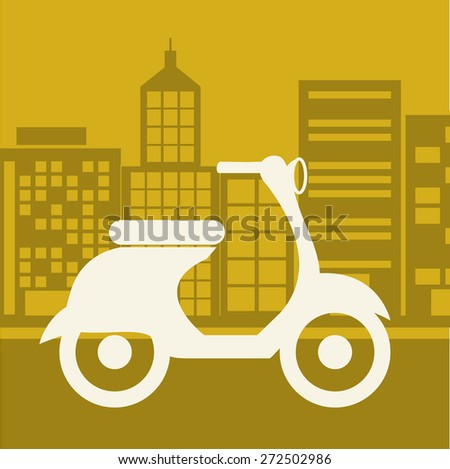 Transportation design over yellow background, vector illustration - stock vector