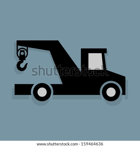 Transportation icon or sign, vector illustration - stock vector