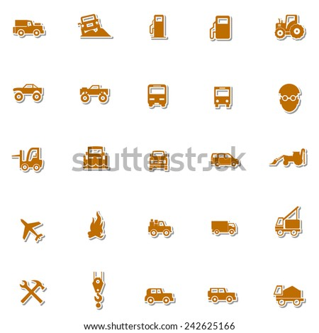 Transportation icon set 1 - stock vector